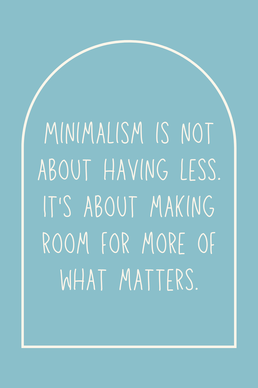 Minimalist Quote Inspiration