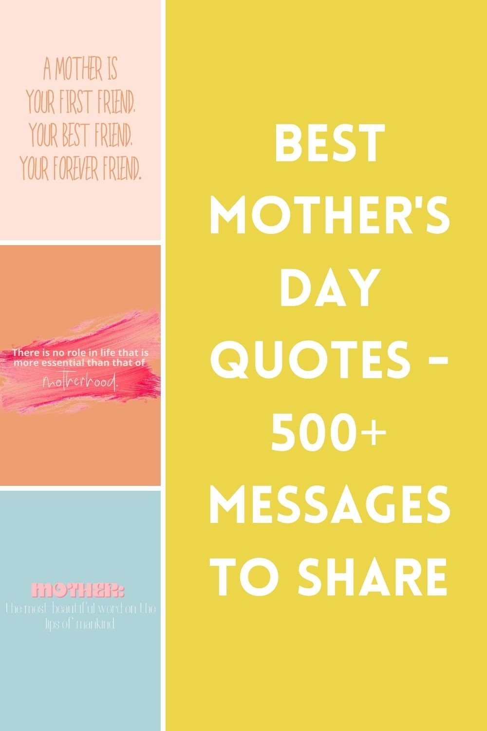 500+ Best Mother's Day Quotes