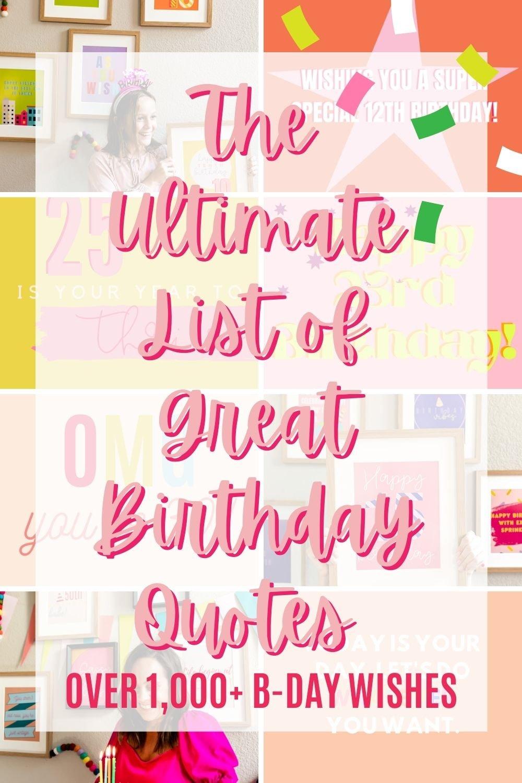 Best Birthday Quotes (Over 1,000 Ideas)