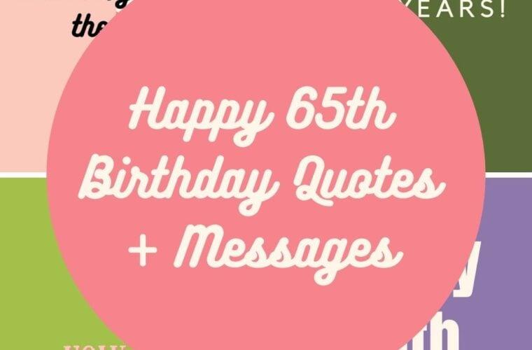 65th Birthday Quotes