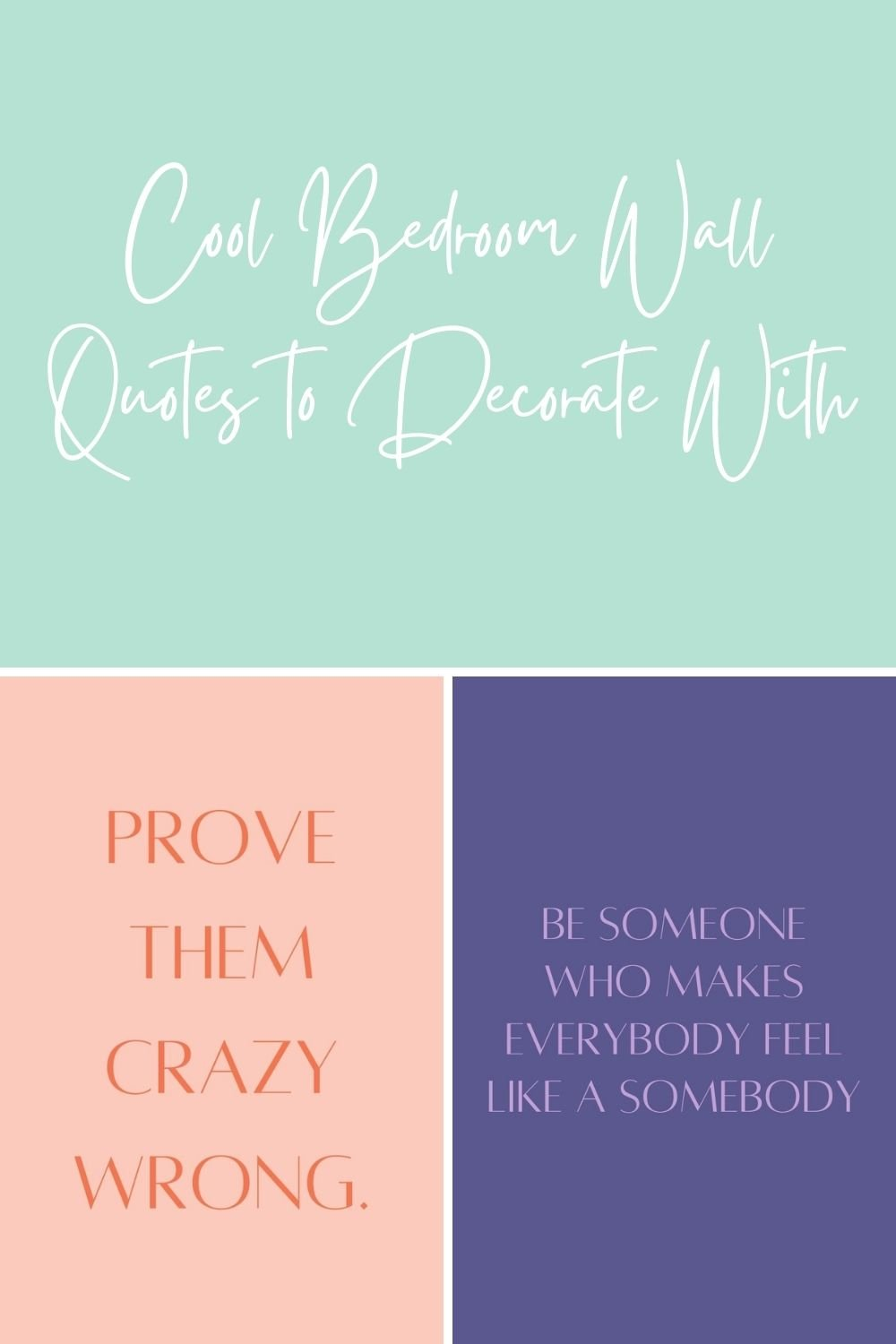 Cool Bedroom Wall Quotes