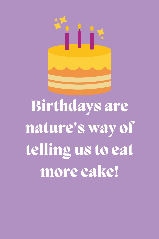 More cake Birthday Quotes