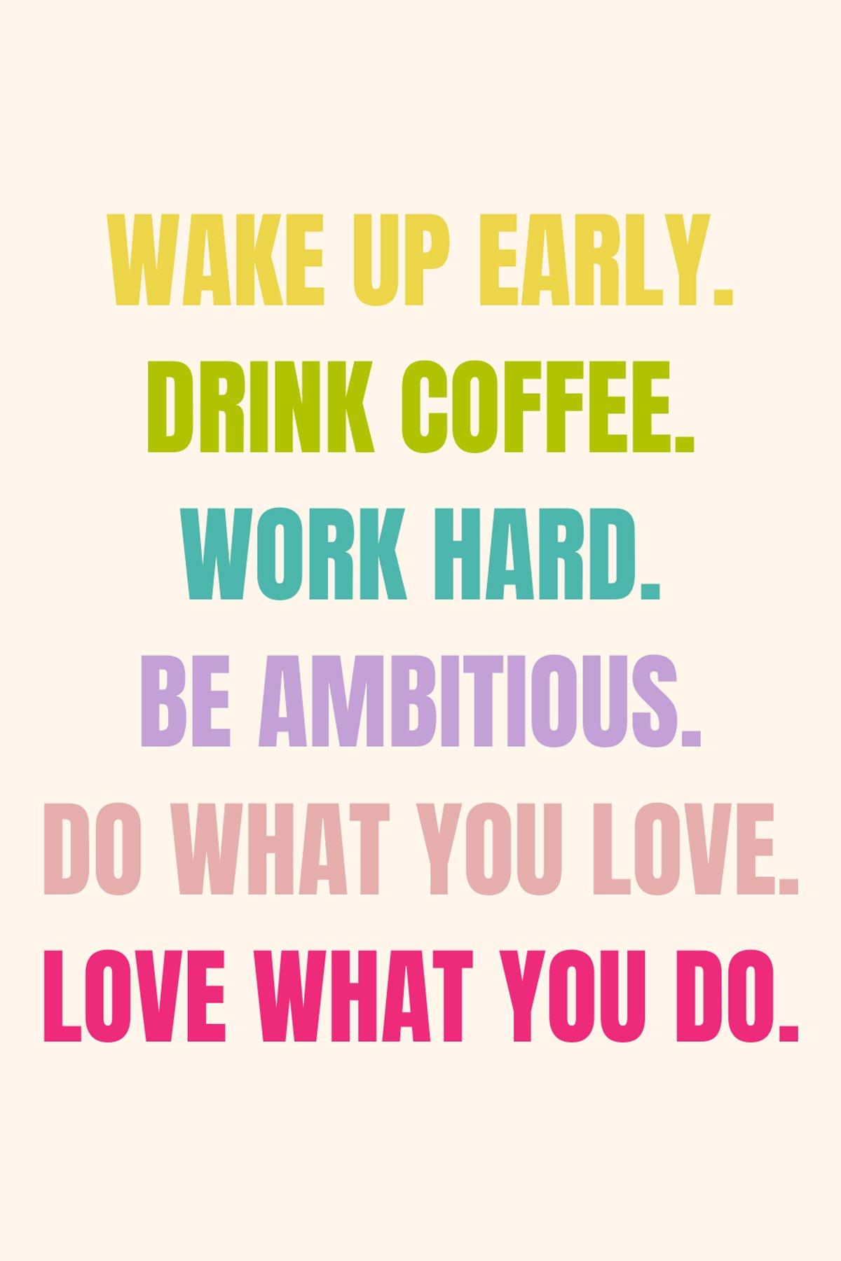 Work Hard Sayings