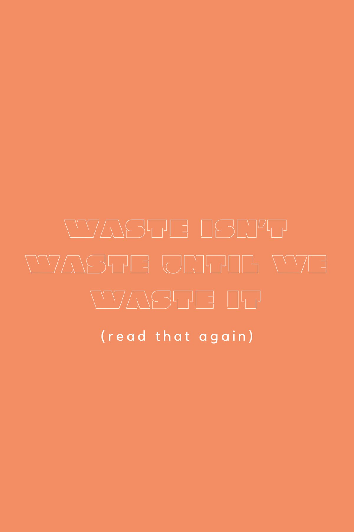 Waste Not Quotes