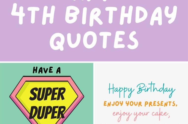 Happy 4th Birthday Quotes
