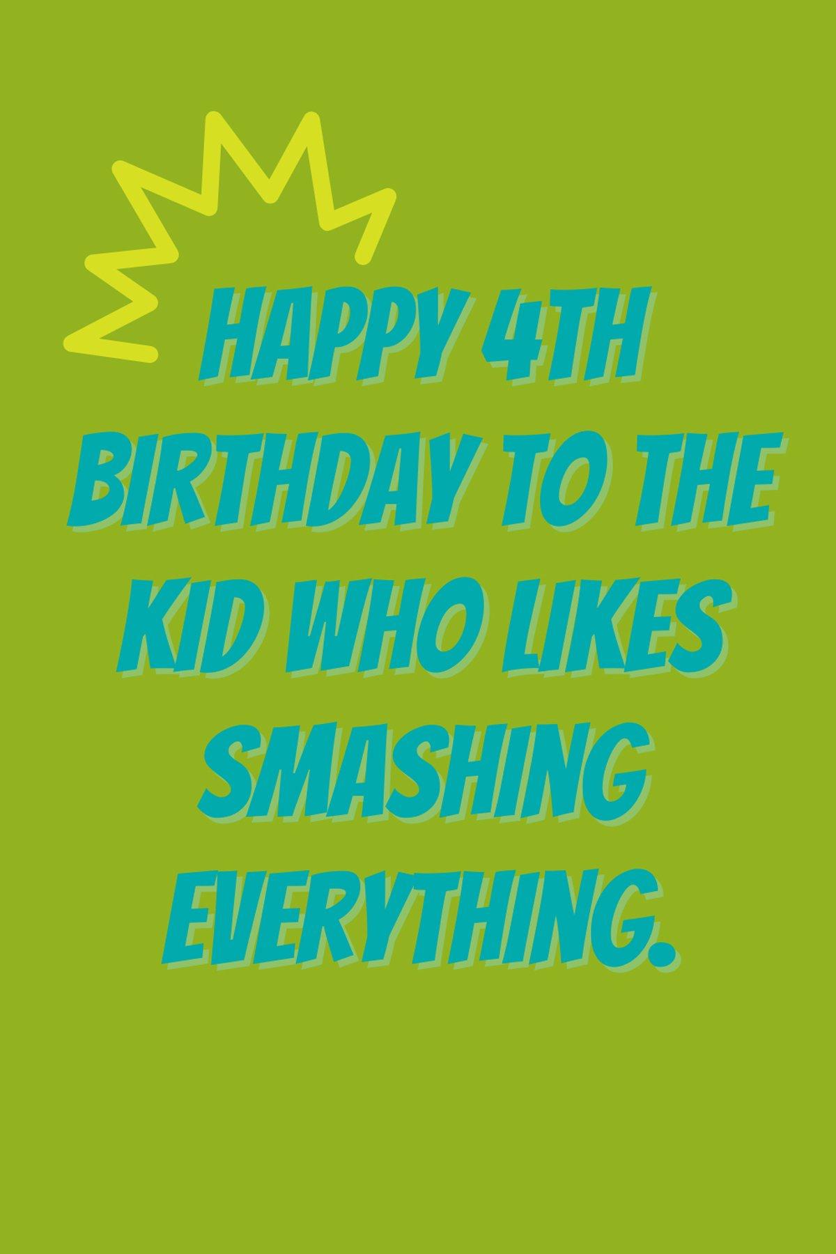Happy 4th birthday my son quotes
