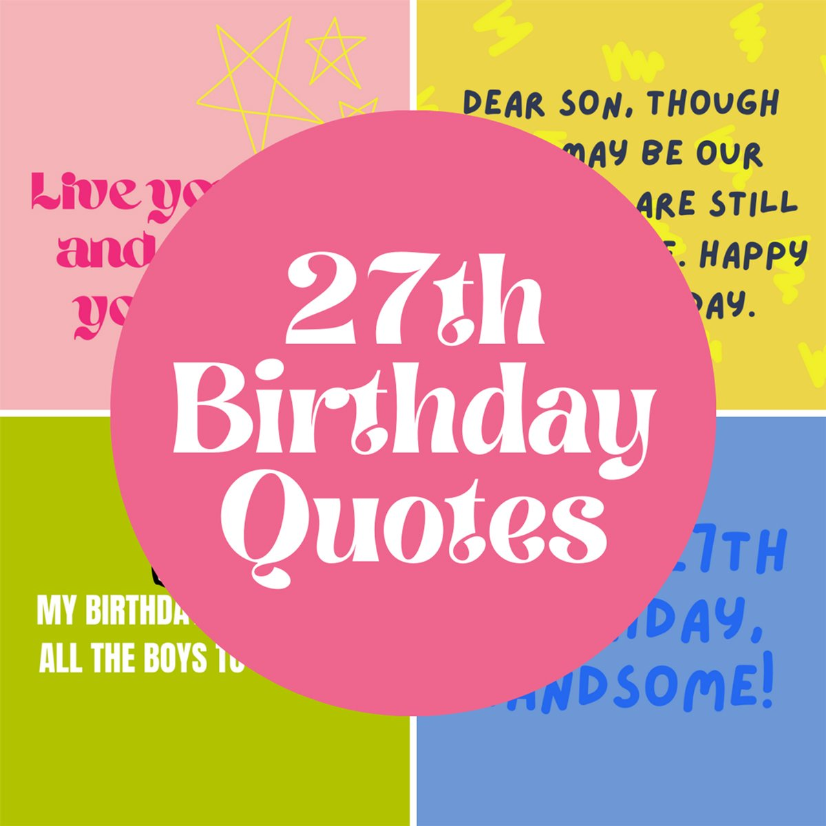 27th Birthday Quotes