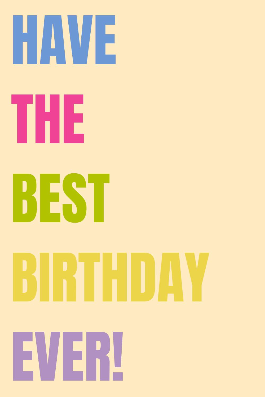 Best Birthday Sayings