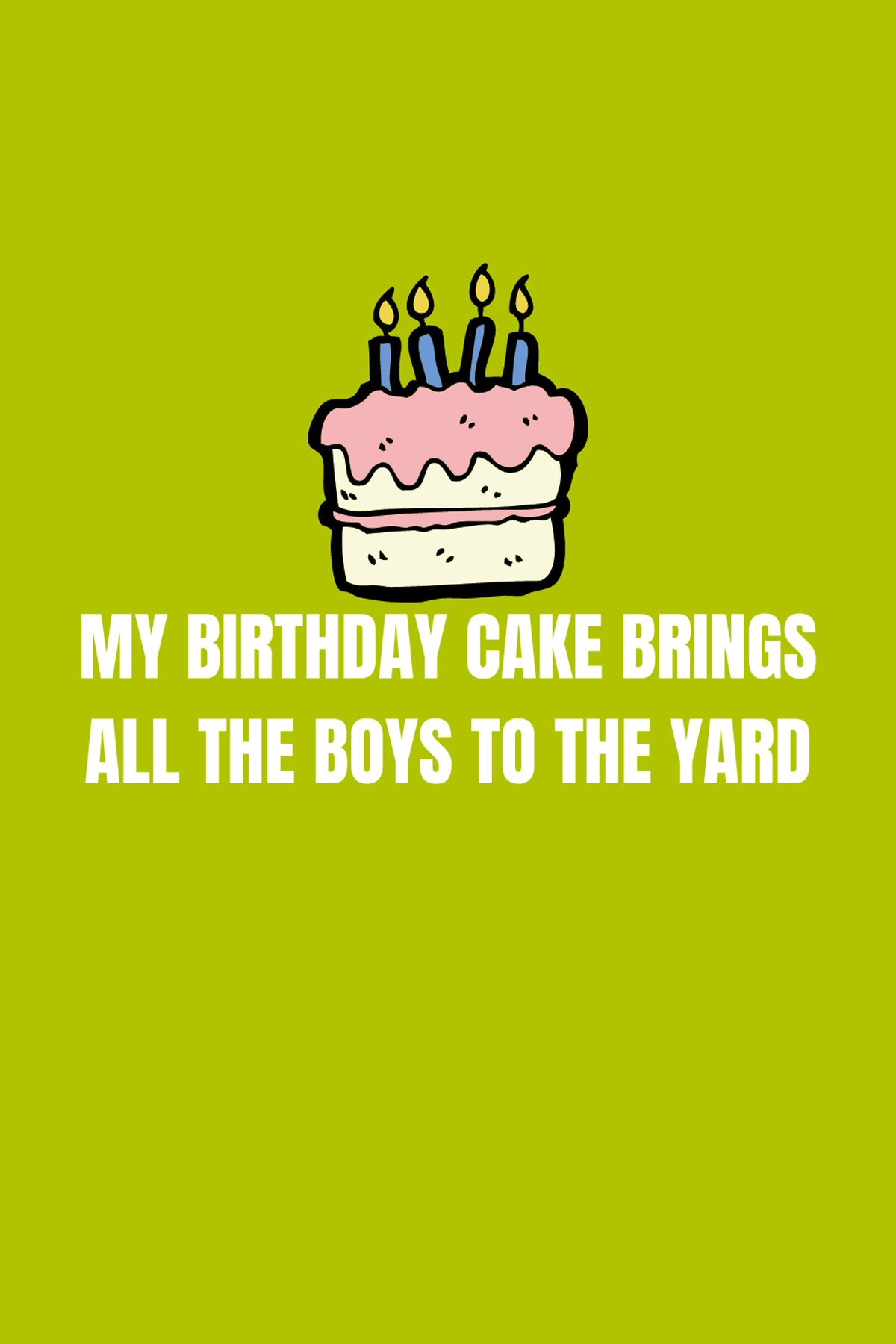 Birthday Cake Captions