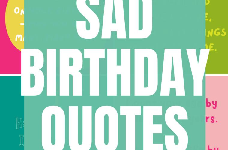 Sad Birthday Saying