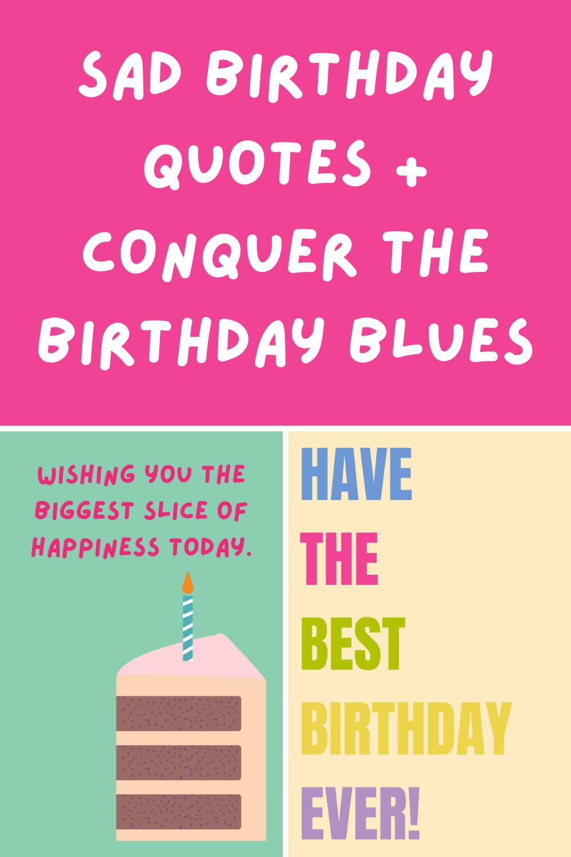 Sad Birthday Quote