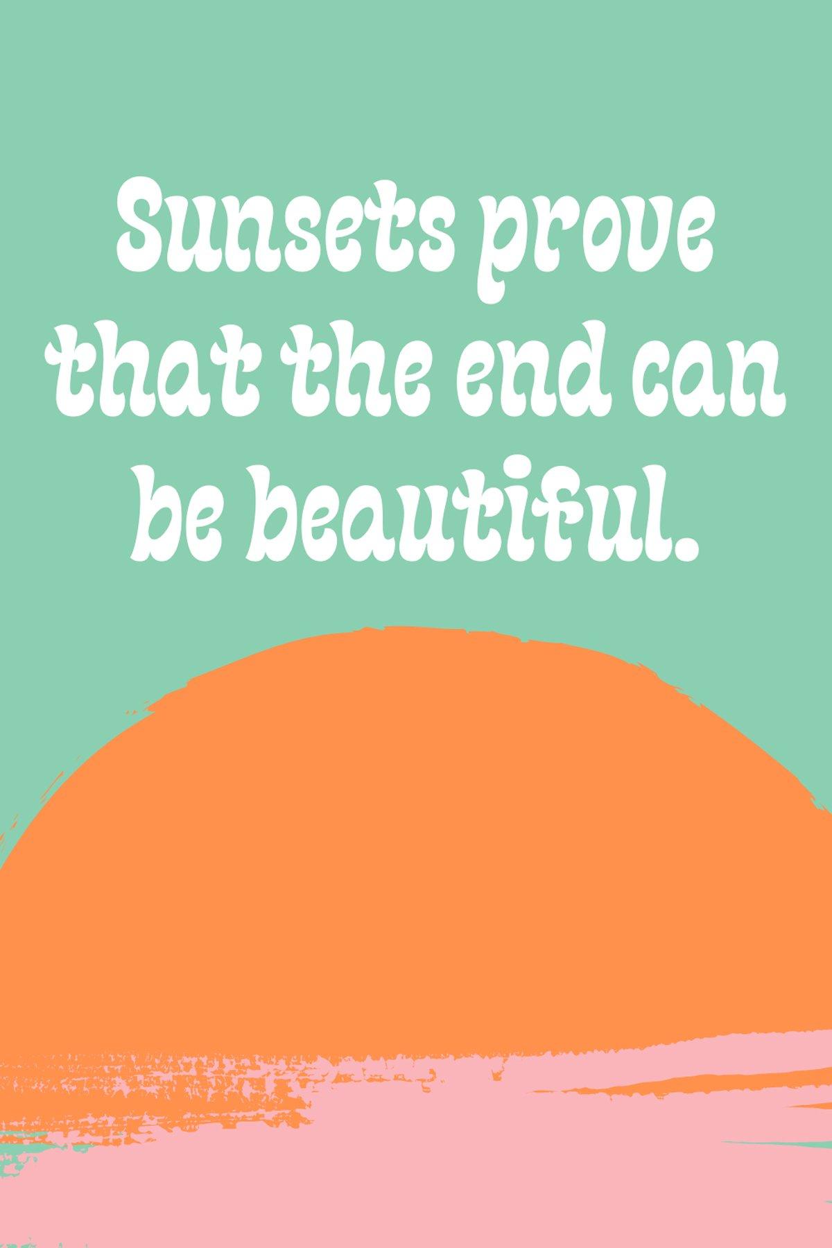 Sunsets Sayings