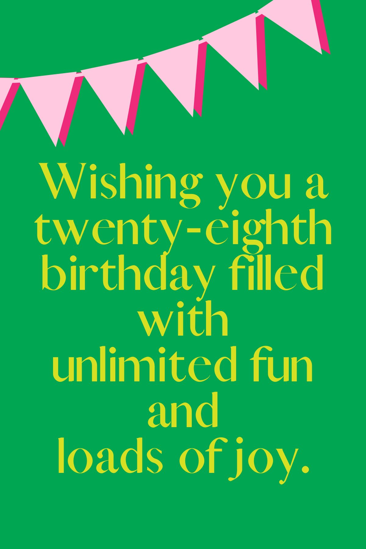 28th Birthday Sayings
