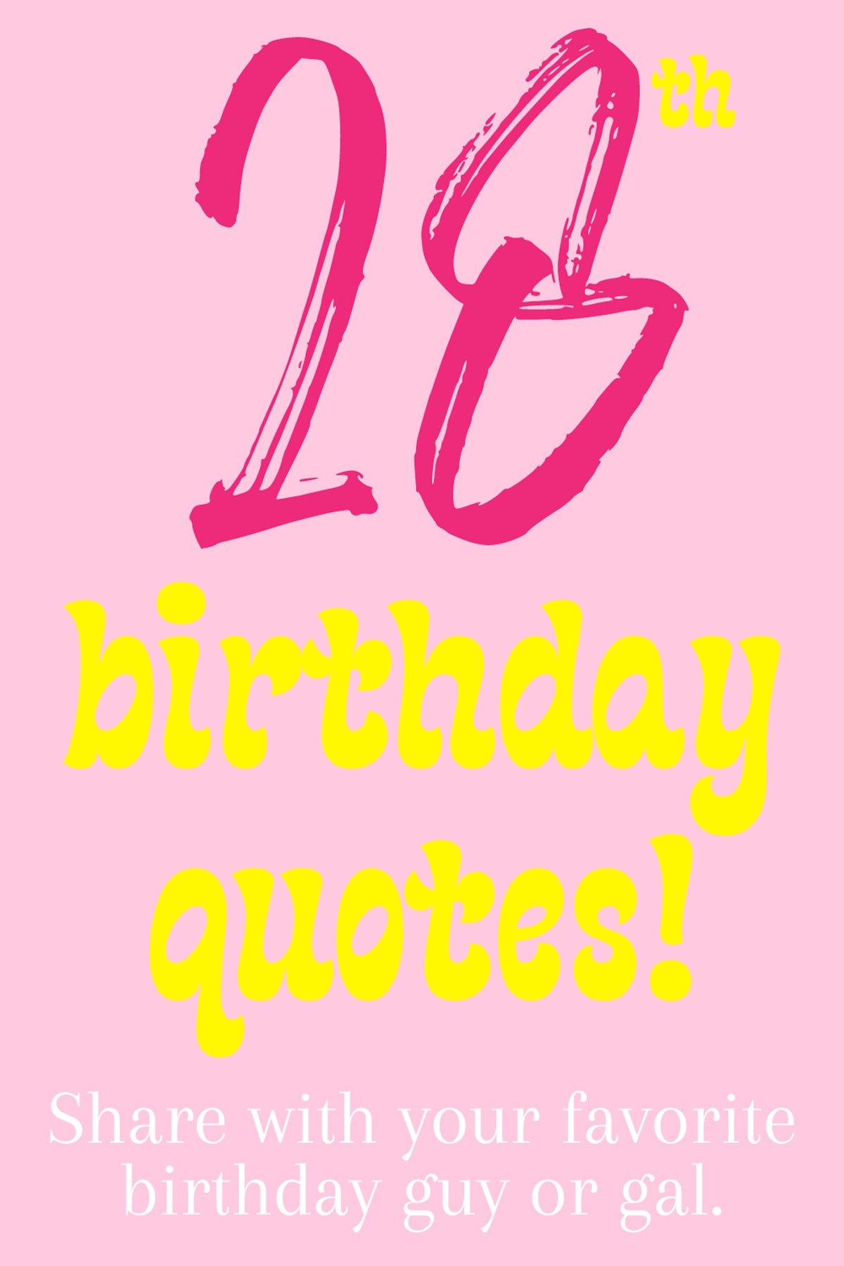 Birthday Quotes For Turning Twenty Eight