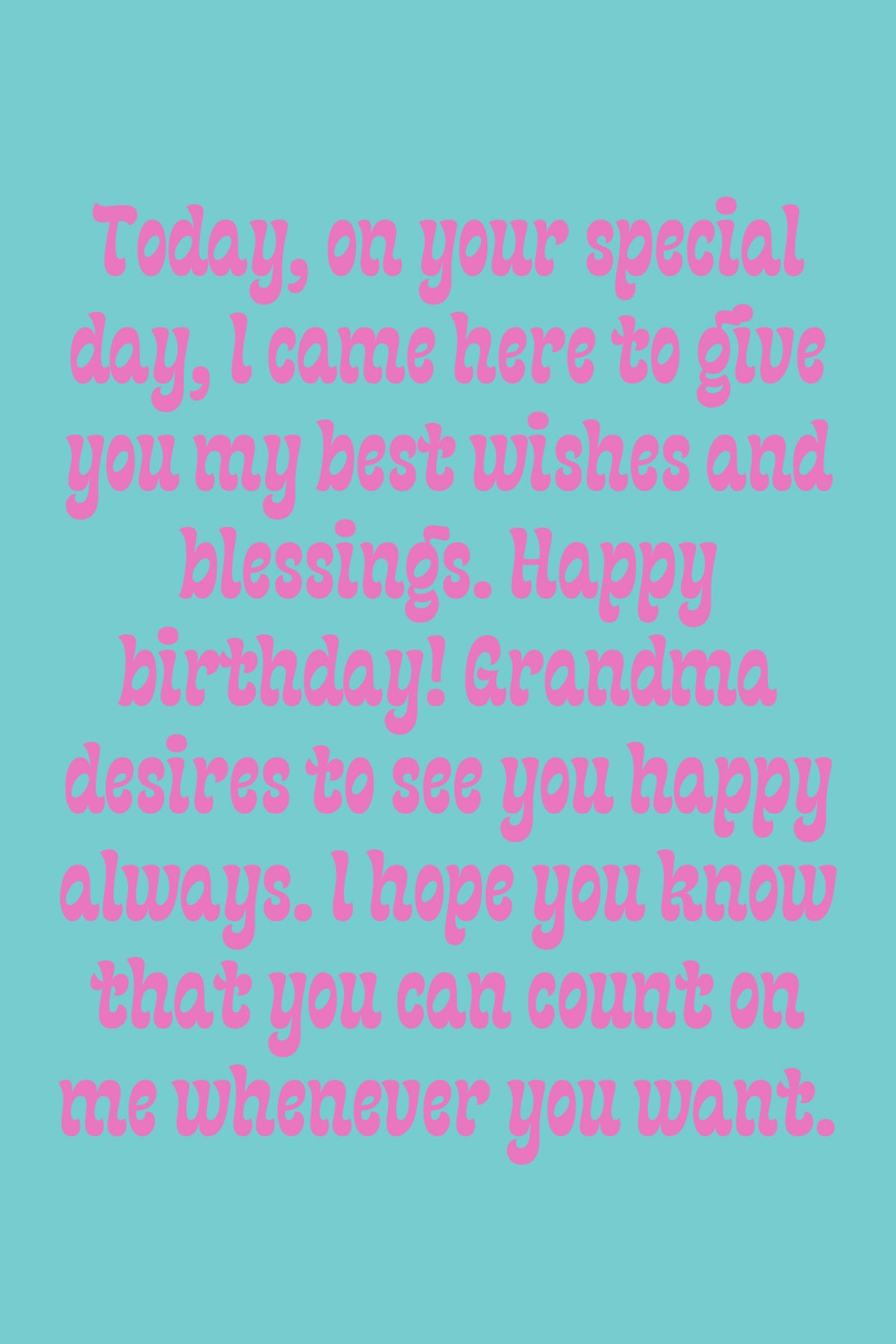 Birthday Sayings for Granddaughter