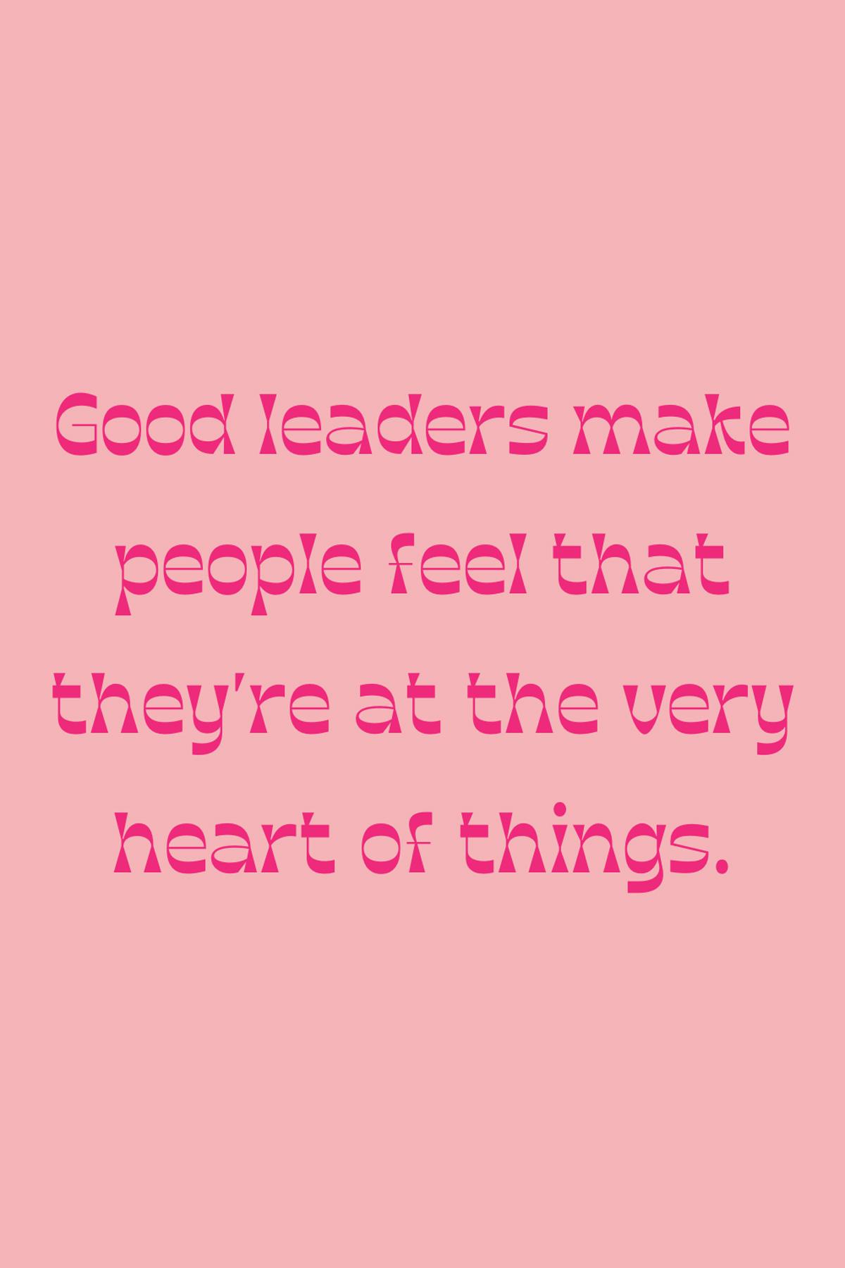 Good Leader Messages
